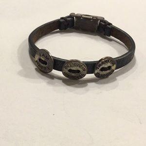 Magnetic good works bracelet leather